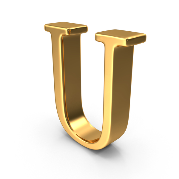 Gold Capital Letter U PNG & PSD Images
