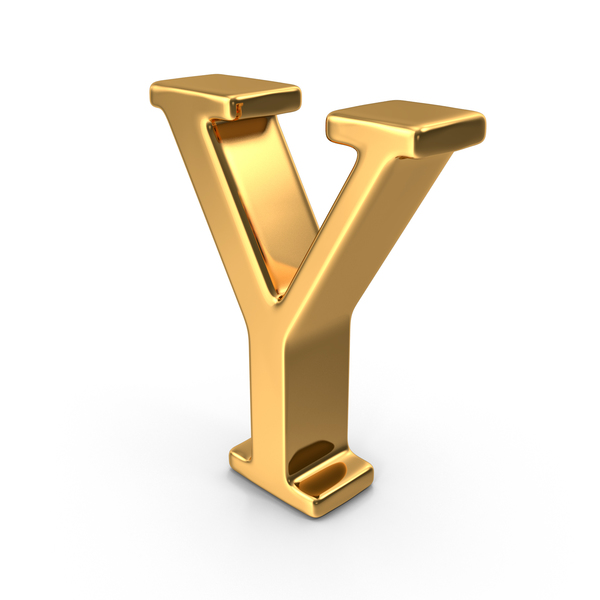 Gold Capital Letter Y PNG & PSD Images