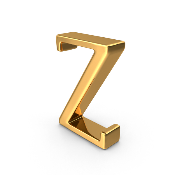 Gold Capital Letter Z PNG & PSD Images