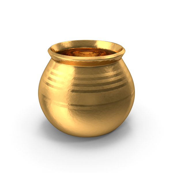 Gold Ceramic Pot With Whole Wheat PNG & PSD Images