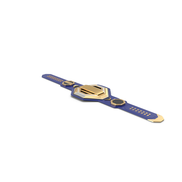 Gold Champion Belt Lies on Floor PNG & PSD Images