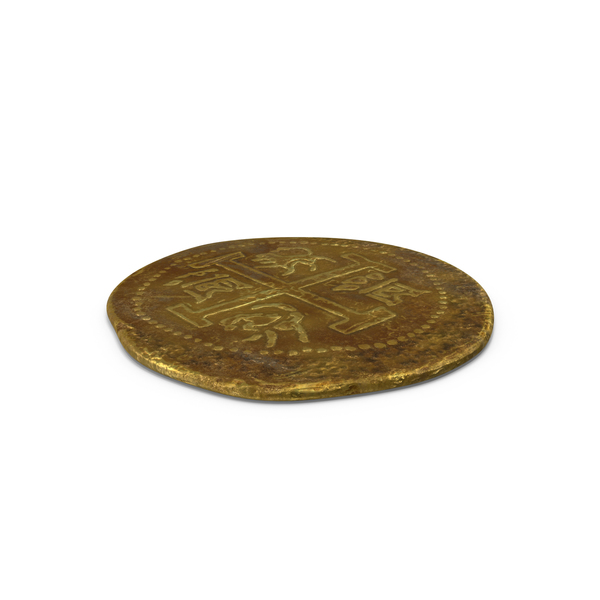 Gold Coin Dirty Object