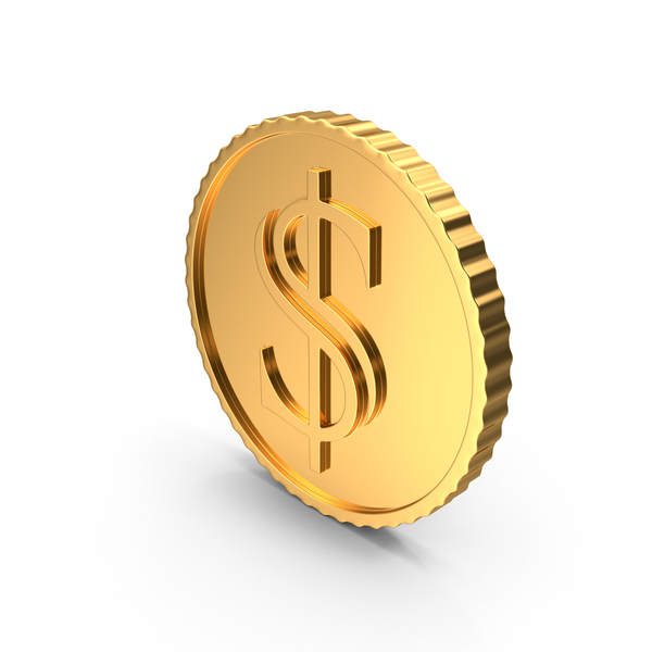 Gold Coin Dollar PNG & PSD Images