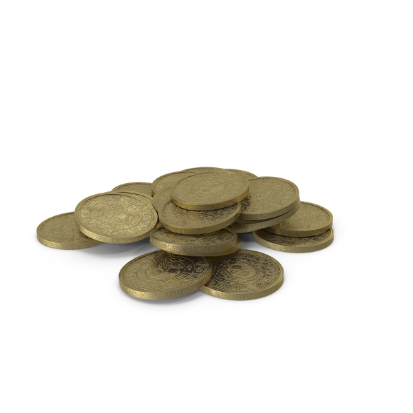Gold Coins Heap Clean PNG & PSD Images