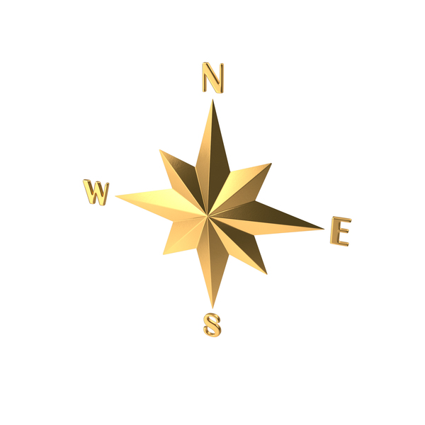 Gold Compass Rose PNG & PSD Images