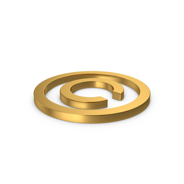Gold Copyright Symbol PNG & PSD Images