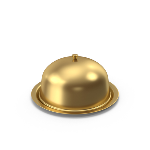 Food Lid: Gold Cover Dome PNG & PSD Images