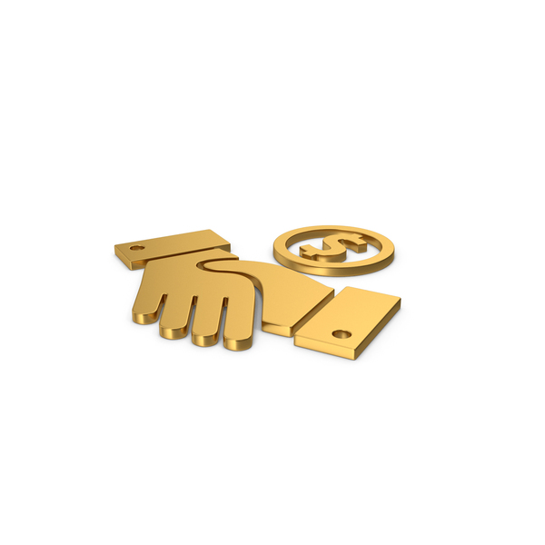 Computer Icon: Gold Deal Symbol PNG & PSD Images