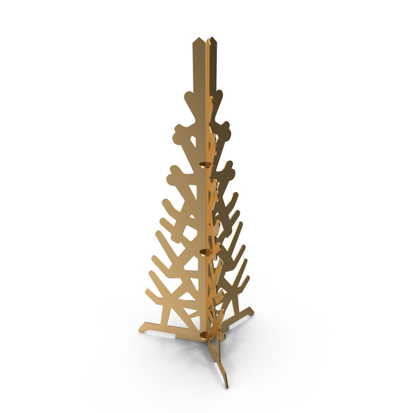 Gold Decorative Christmas Tree PNG & PSD Images