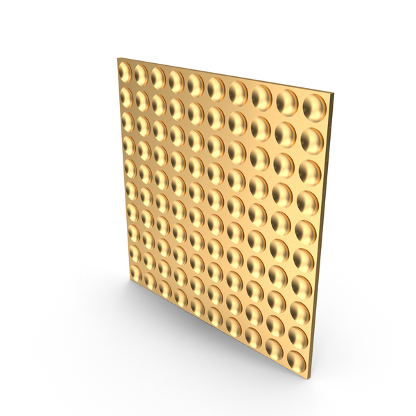 Gold Dimple Panel Wall PNG & PSD Images