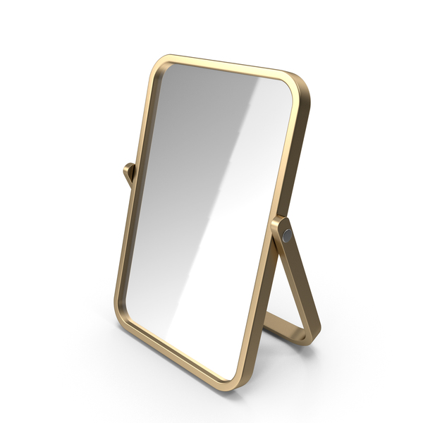 Gold Double Sided Makeup Mirror PNG & PSD Images