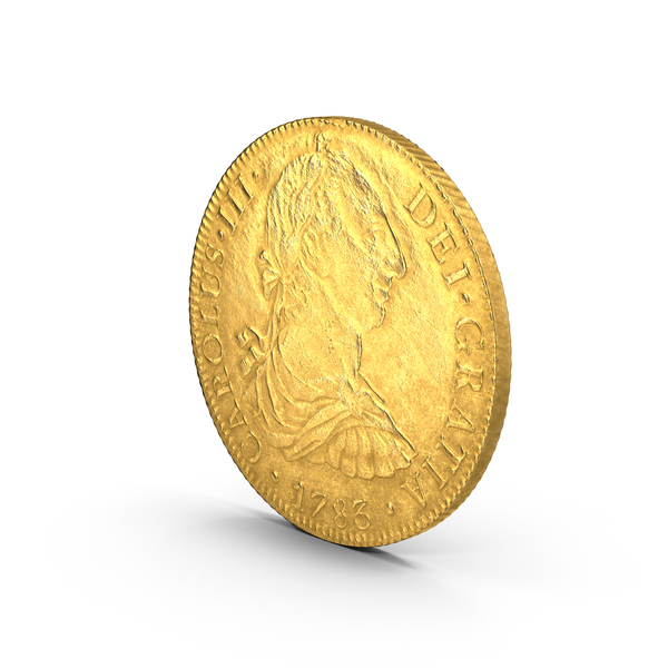 Gold Doubloon Aged Object