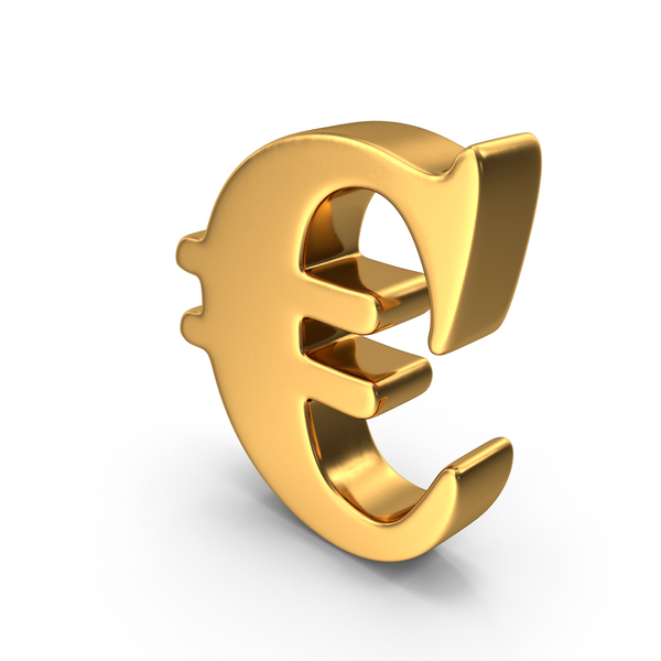 Gold Euro Sign PNG & PSD Images