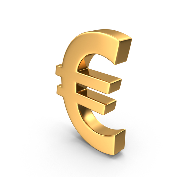 Gold Euro Symbol PNG & PSD Images