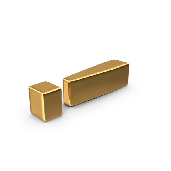 Gold Exclamation Mark Object