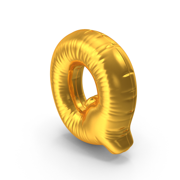 Gold Foil Balloon Letter Q PNG & PSD Images