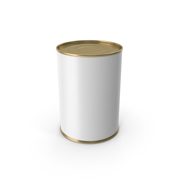 Tin: Gold Food Can With Label PNG & PSD Images