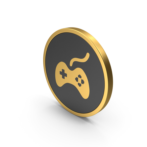 Gold Gamepad Icon PNG & PSD Images