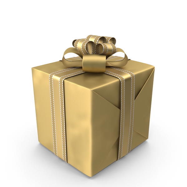 Gold Gift Box PNG & PSD Images