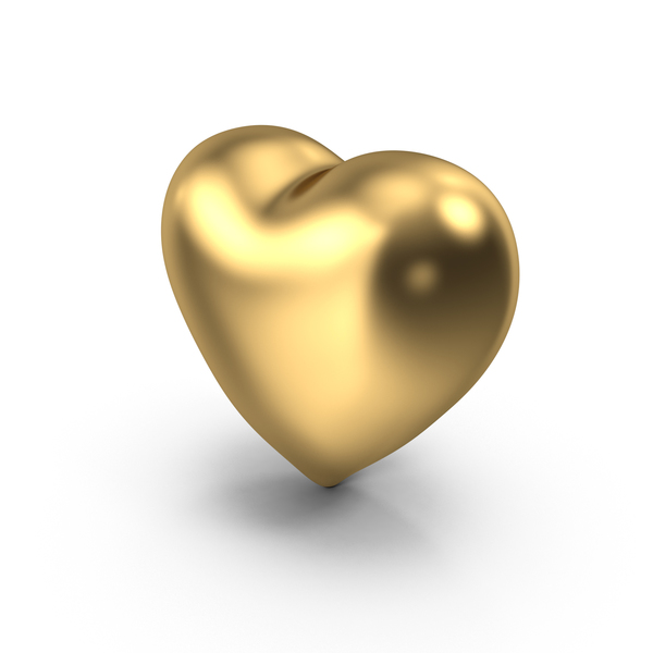 Shape: Gold Heart PNG & PSD Images