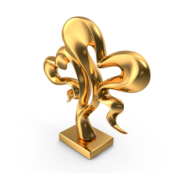 Gold Hearts Sculpture PNG & PSD Images