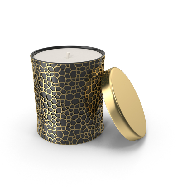 Gold Holiday Candle PNG & PSD Images