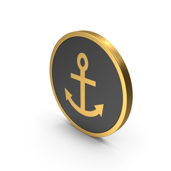 Industrial Equipment: Gold Icon Anchor PNG & PSD Images