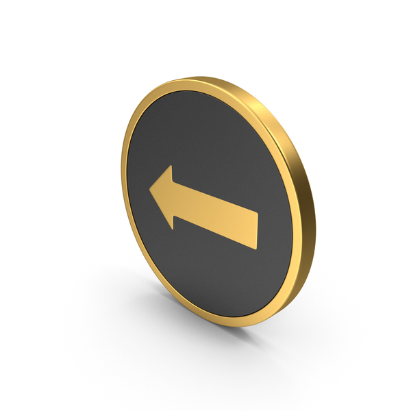 Directional: Gold Icon Arrow PNG & PSD Images