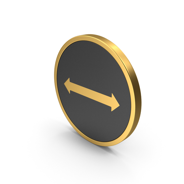 Gold Icon Arrow Left Right PNG & PSD Images