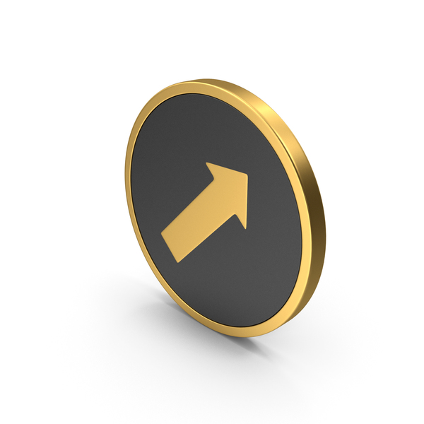 Gold Icon Arrow PNG & PSD Images