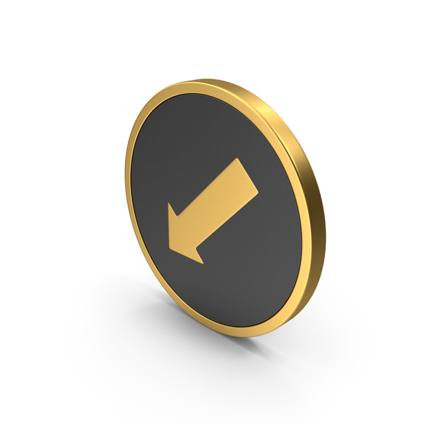 Directional: Gold Icon Arrow Mark PNG & PSD Images
