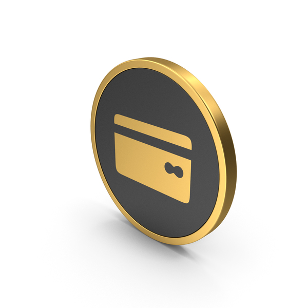 Computer: Gold Icon Bank Card PNG & PSD Images