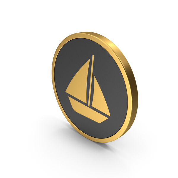 Symbols: Gold Icon Boat PNG & PSD Images