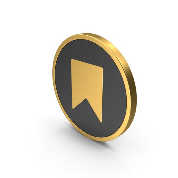 Gold Icon Bookmark PNG & PSD Images