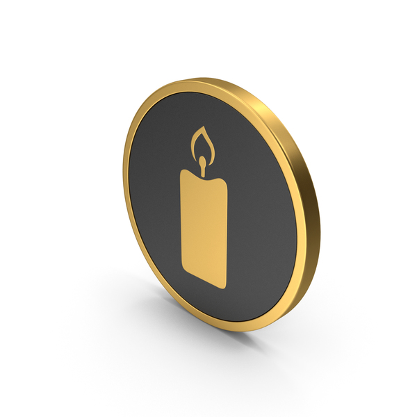 Computer: Gold Icon Candle PNG & PSD Images