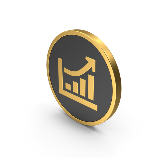Gold Icon Chart PNG & PSD Images