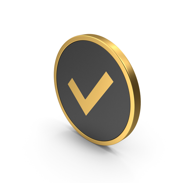 Gold Icon Check Mark PNG & PSD Images