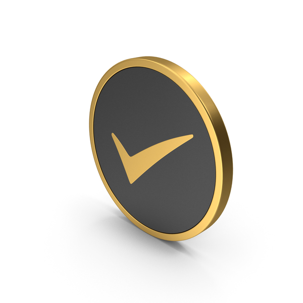 Logo: Gold Icon Checkmark PNG & PSD Images