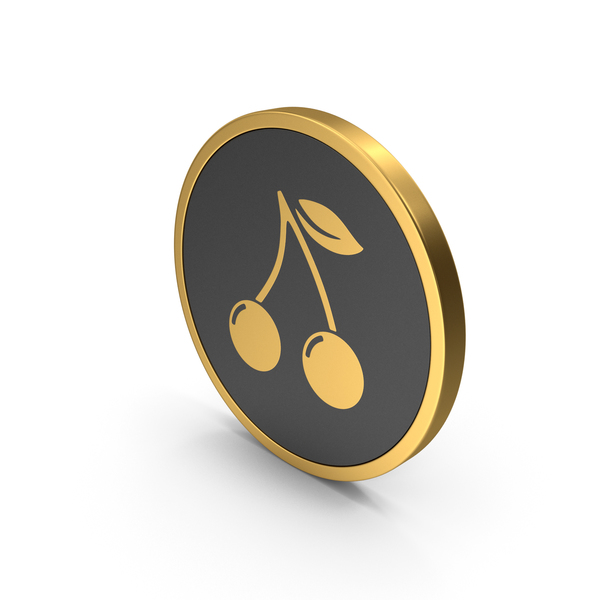 Logo: Gold Icon Cherries PNG & PSD Images