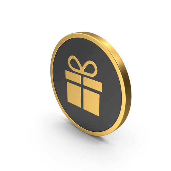 Gold Icon Christmas Gift PNG & PSD Images