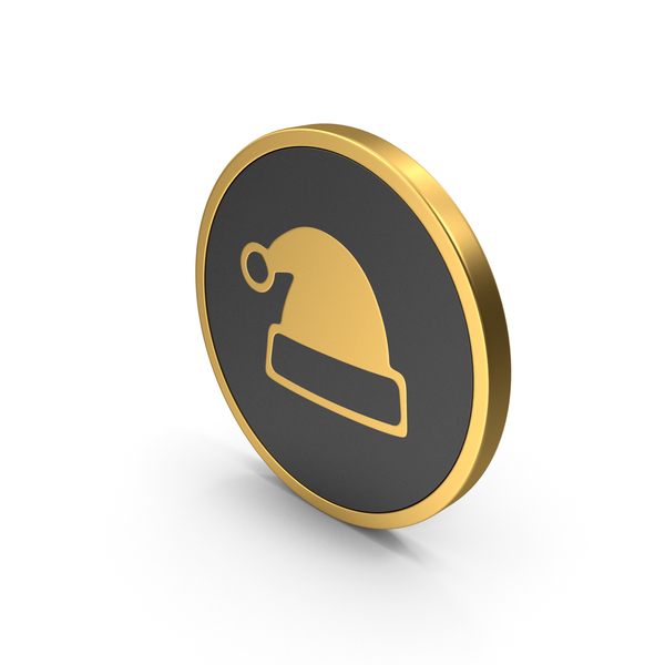 Gold Icon Christmas Hat PNG & PSD Images