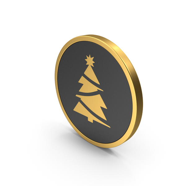 Gold Icon Christmas Tree PNG & PSD Images