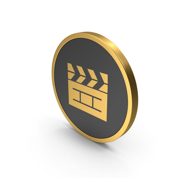 Computer: Gold Icon Cinema Movie PNG & PSD Images
