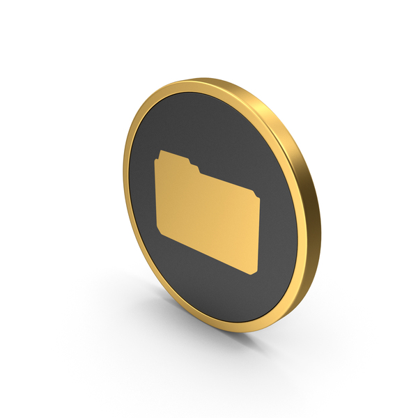 Computer: Gold Icon File Folder PNG & PSD Images