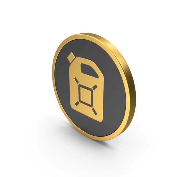 Gold Icon Fuel Can PNG & PSD Images