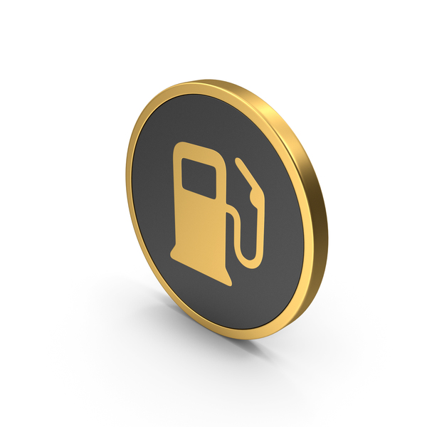 Gas Pump: Gold Icon Fuel PNG & PSD Images