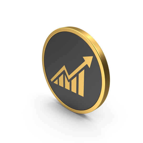 Gold Icon Graph PNG & PSD Images