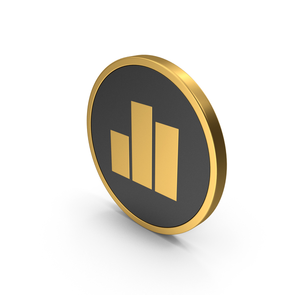 Line Chart: Gold Icon Graph PNG & PSD Images