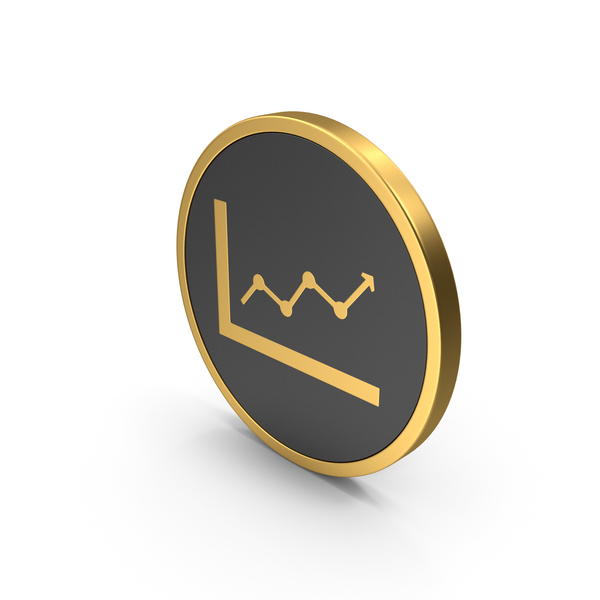 Gold Icon Graph Up PNG & PSD Images