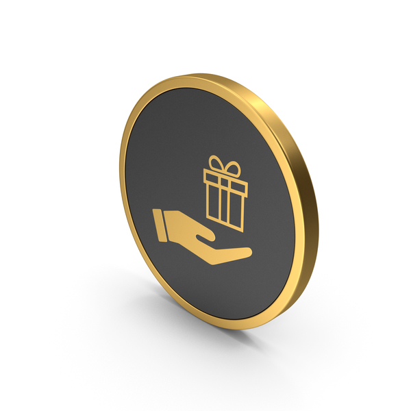 Computer: Gold Icon Hand Holding Gift PNG & PSD Images